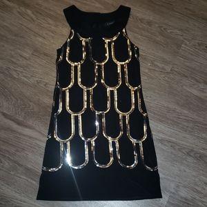 B. Smart Black Silver Sequin Mini Dress Sexy Party